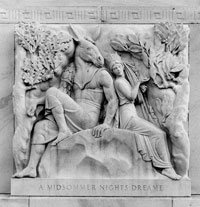 Midsummer Night's Dream bas relief