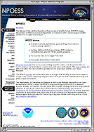 NPOESS site home page