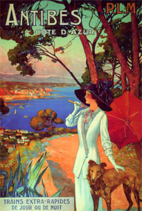 travel poster for Antibes