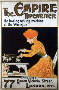 poster ad for an Empire typewriter